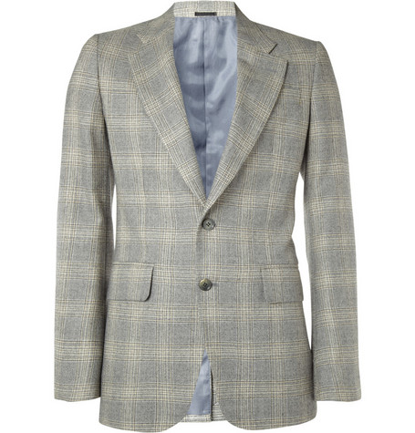 Alexander McQueen Check Two Button Blazer