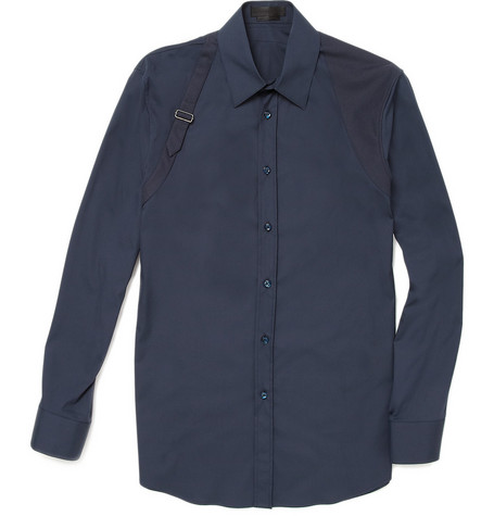 Alexander McQueen Harness Slim-Fit Cotton Shirt