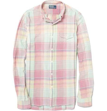 Polo Ralph Lauren Custom Fit Washed Madras Plaid Shirt