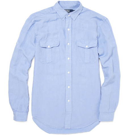 Polo Ralph Lauren Linen and Silk-Blend Shirt
