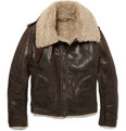 Burberry London Canbury Leather Aviator Jacket
