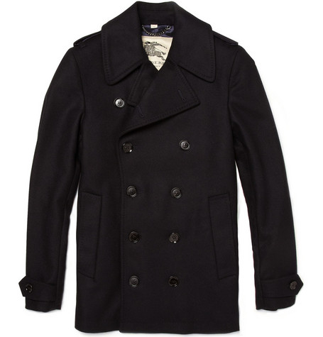 Burberry London Gibson Wool-Blend Peacoat