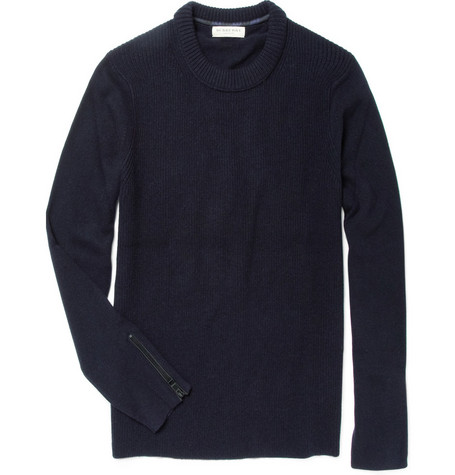 Burberry London Toby Wool-Blend Ribbed Sweater