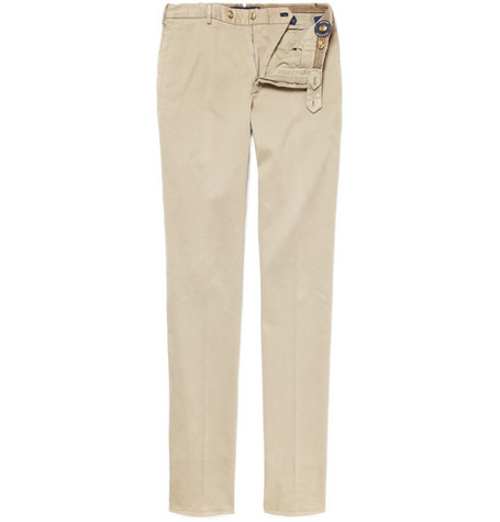 Slowear Incotex Straight-Leg Cotton-Blend Chinos