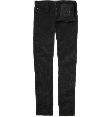 Bottega Veneta Straight Crumpled Corduroy Trousers