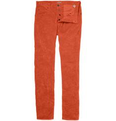 Bottega Veneta Straight Crumpled Corduroy Trousers