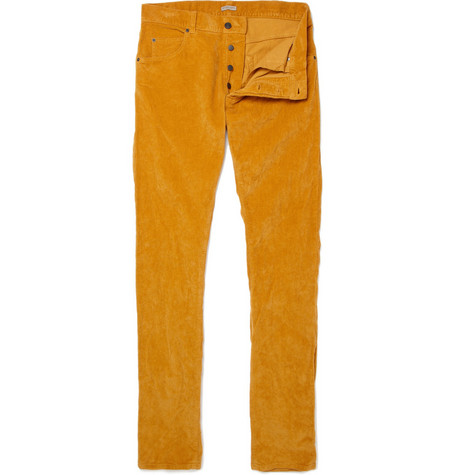 Bottega Veneta Slim Crumpled Corduroy Trousers