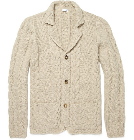Jil Sander Heavyweight Cable Knit Cardigan