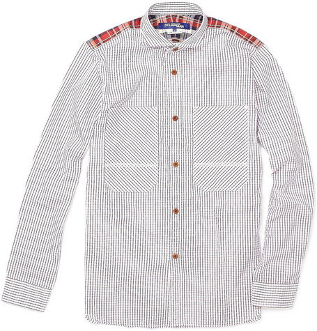 Junya Watanabe Check and Plaid Cotton Shirt
