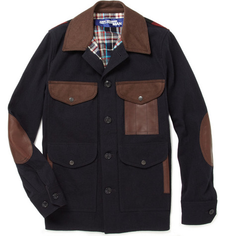 Junya Watanabe Wool and Cotton-Blend Patch Jacket