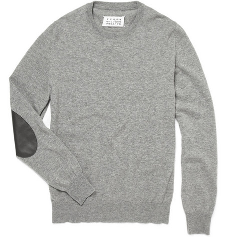 Maison Martin Margiela Elbow Patch Wool Sweater