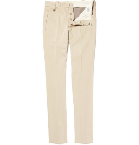 Maison Martin Margiela Slim-Fit Cotton Trousers