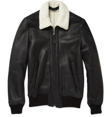 Maison Martin Margiela Shearling Lined Leather Jacket
