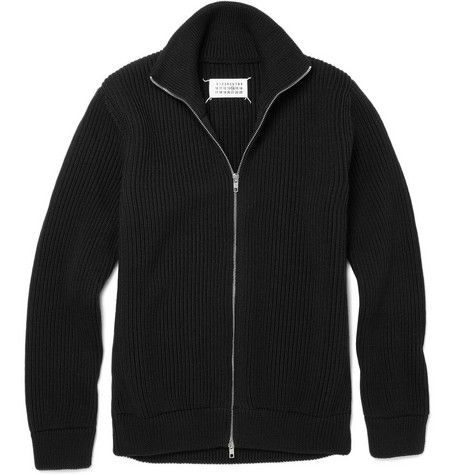 Maison Martin Margiela Trucker Zip Up Wool Cardigan