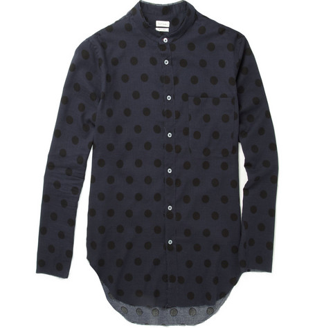 Paul Smith Raw-Edged Polka Dot Shirt