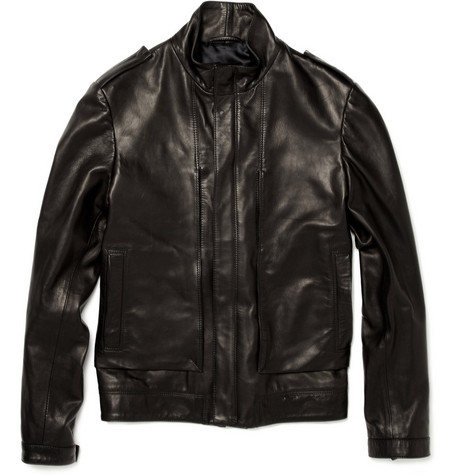 Simon Spurr Panelled Leather Jacket