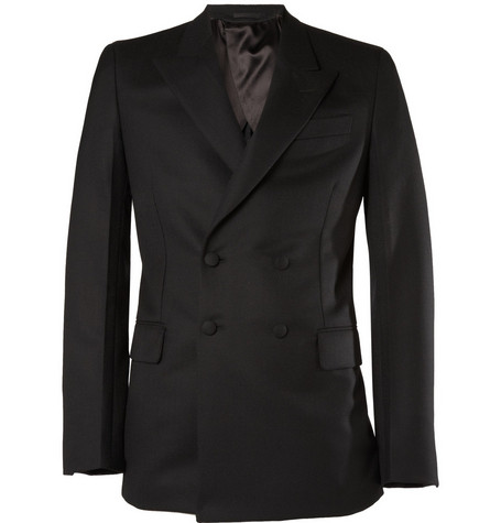 Yves Saint Laurent Double-Breasted Jacquard Suit Jacket