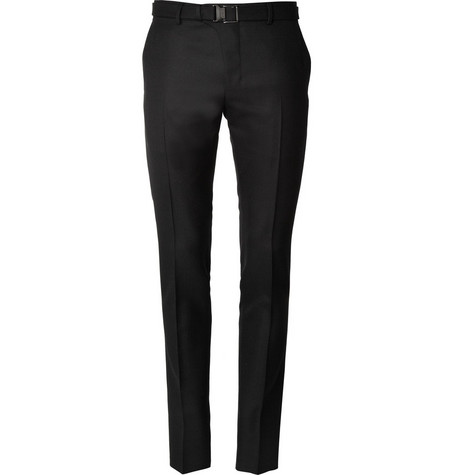 Yves Saint Laurent Slim Fit Jacquard Suit Trousers