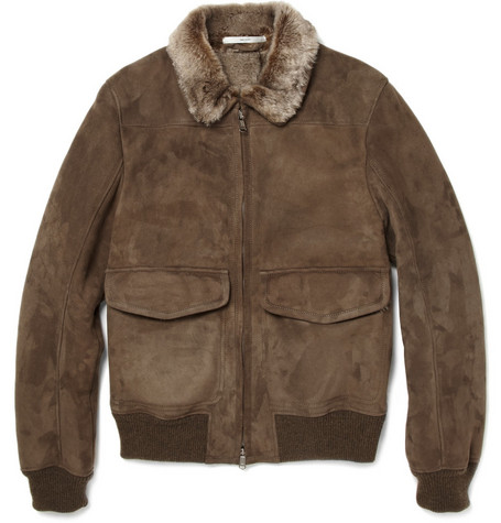 Yves Saint Laurent Shearling Bomber Jacket