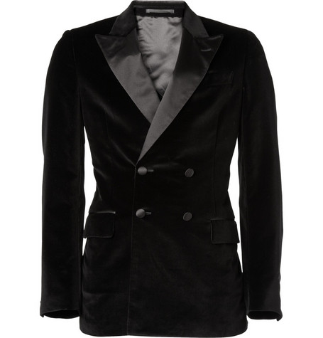 Yves Saint Laurent Double-Breasted Velvet Blazer