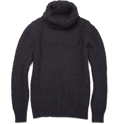 Yves Saint Laurent Wool and Angora-Blend Rollneck Sweater