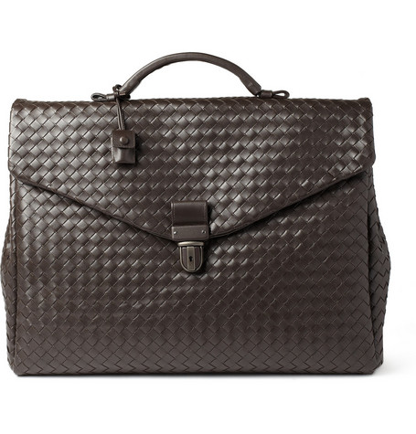 Bottega Veneta Large Intrecciato Leather Briefcase