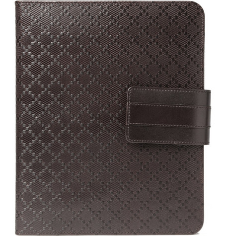 Gucci Diamond Patterned Brown iPad Case