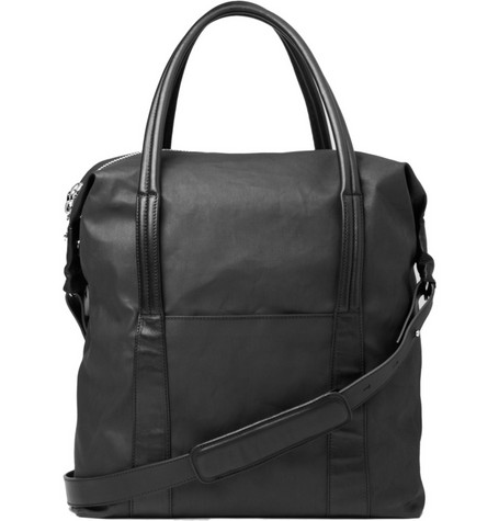 Maison Martin Margiela Waxed-Effect Cotton Holdall Bag