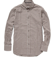 Canali Gingham Check Flannel Shirt