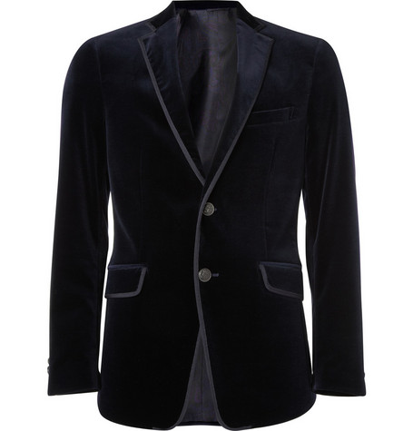 Etro Two Button Velvet Blazer