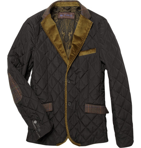 EtroQuilted Jacket with Corduroy Lapels