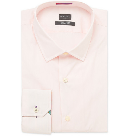 Paul Smith London Slim-Fit Pink Striped Cuff Shirt