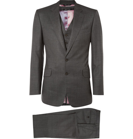 Paul Smith London Byard Three Piece Wool Suit
