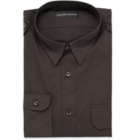 Ralph Lauren Black Label Cotton-Blend Military Shirt