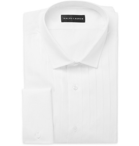 Ralph Lauren Black Label Pleated Bib-Front Tuxedo Shirt