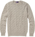 Ralph Lauren Purple Label - Cable Knit Cashmere Sweater