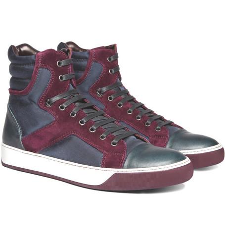 LanvinPuzzle High Top Sneakers