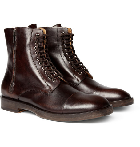 Maison Martin Margiela Leather Lace-Up Boots