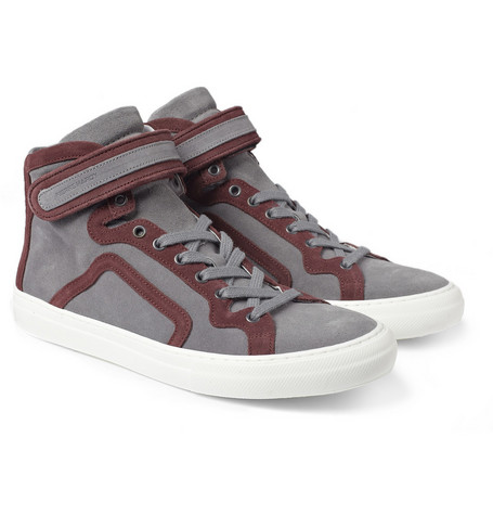Pierre Hardy Suede High Top Sneakers