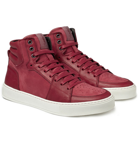 Yves Saint Laurent Suede and Leather High Top Sneakers