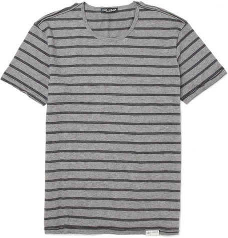 Dolce & Gabbana Textured Cotton-Blend T-shirt
