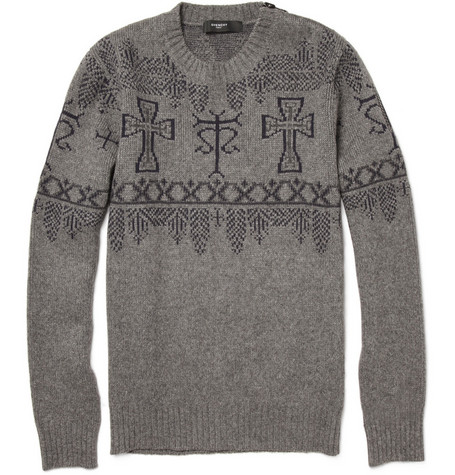 Givenchy Crucifix Patterned Wool Sweater