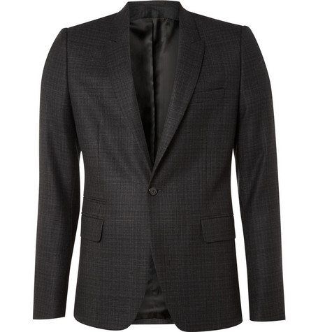 Givenchy Wool Prince of Wales Plaid Blazer