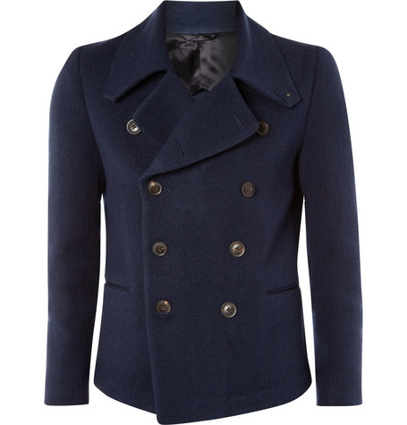 Paul Smith Navy Cotton Peacoat