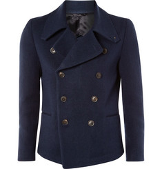 Paul Smith Navy Cotton Pea Coat