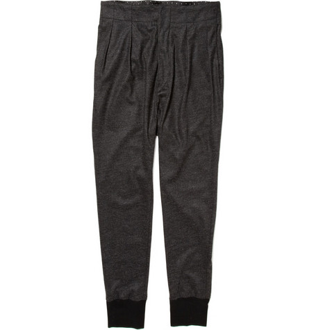 Paul Smith Pleated Wool Jersey Trousers