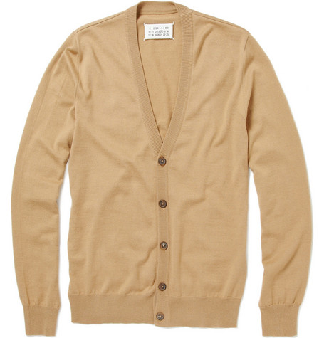 Maison Martin Margiela Wool-Blend Shoulder Patch Cardigan