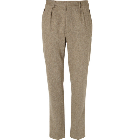 Maison Martin Margiela Tapered Leg Wool Trousers
