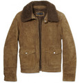 Ralph Lauren Black Label Shearling and Suede Flying Jacket