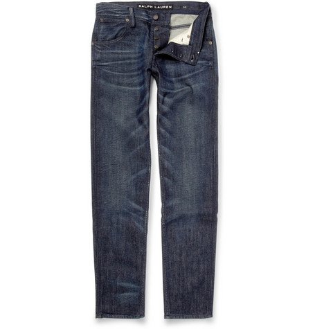 Ralph Lauren Black Label Washed Slim-Fit Jeans